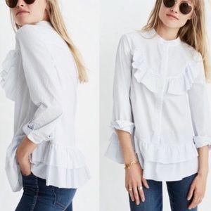 Madewell x Karen Walker Annie Shirt Ruffle Stripe